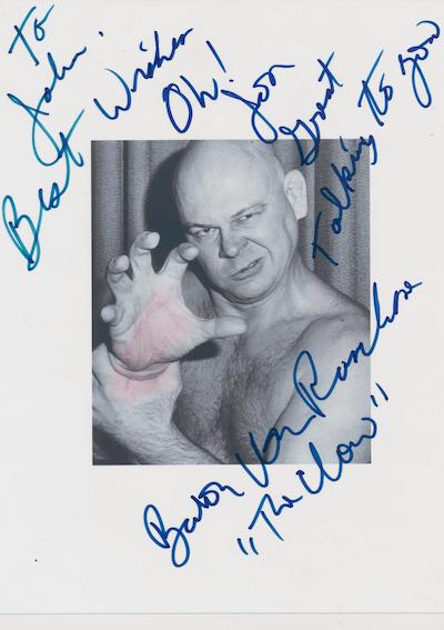 Baron Von Raschke The Claw